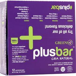 Greens Plus Omega 3 Chia Energy Bar Natural 12 bars