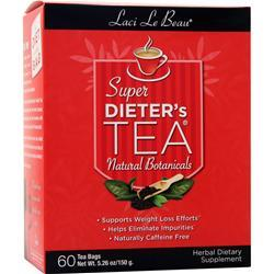 Laci Le Beau Super Dieter's Tea Cleanse All Natural Botanicals 60 pckts