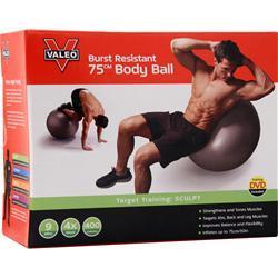 Valeo Burst Resistant Body Ball 75 Centimeters - Gray 1 unit
