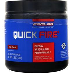 ProLab Nutrition Quick Fire Pre-Training Fuel Fruit Punch 130 grams