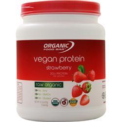 Organic Food Bar Vegan Protein Strawberry 360 grams