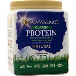 SunWarrior Classic Protein - Raw Vegan Natural 500 grams