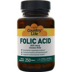 Country Life Folic Acid (800mcg) 250 tabs