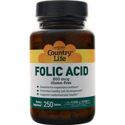 Country Life Folic Acid (800mcg) 250 tabs