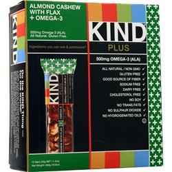 Peaceworks KIND Plus Omega-3 Bar Almond & Cashew 12 bars