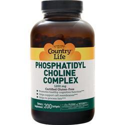 Country Life Phosphatidyl Choline Complex (1200mg) 200 sgels