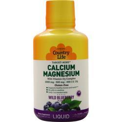 Country Life Target-Mins Liquid - Calcium-Magnesium with Vitamin D3 Complex 16 fl.oz