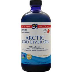 Nordic Naturals Arctic Cod Liver Oil Liquid Strawberry 16 fl.oz