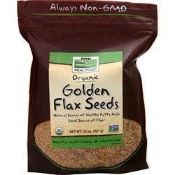 Now Golden Flax Seeds - Organic 2 lbs