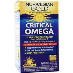 Renew Life Norwegian Gold Ultimate Fish Oils Critical Omega Natural Orange Flavor 120 sgels