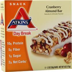 Atkins Day Break Bar Cranberry Almond 5 bars