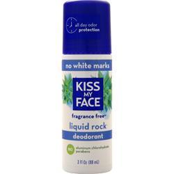 Kiss My Face Liquid Rock Deodorant Fragrance Free 3 fl.oz