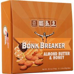 Bonk Breaker The World's Best Energy Bar Almond Butter & Honey 12 bars