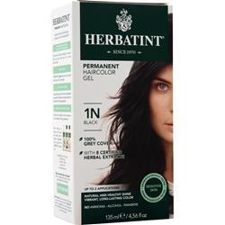 Herbatint Permanent Herbal Haircolour Gel Black 135 mL