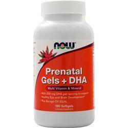 Now Prenatal Gels + DHA 180 sgels