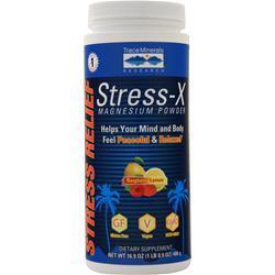 Trace Minerals Research Stress-X Magnesium Powder (350mg) Raspberry Lemon 16.9 oz