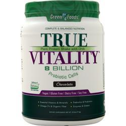 Green Foods True Vitality - Plant Protein Shake with DHA Chocolate 25.2 oz