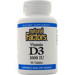 Natural Factors Vitamin D3 (1000IU) 90 tabs