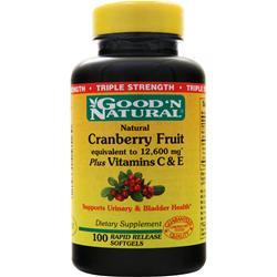Good 'N Natural Cranberry Fruit plus Vitamin C Triple Strength 100 sgels