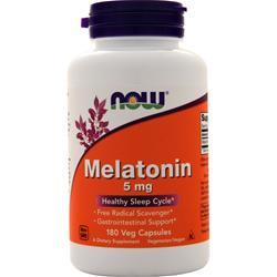 Now Melatonin (5mg) 180 vcaps