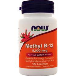 Now Methyl B-12 (5000mcg) with Folic Acid 120 lzngs