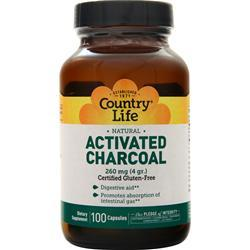 Country Life Activated Charcoal (260mg) 100 caps