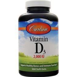 Carlson Vitamin D3 (2000IU) 360 sgels