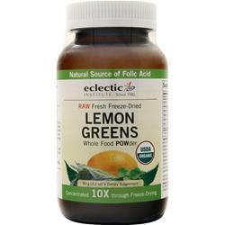 Eclectic Institute Fresh freeze-dried Lemon Greens POW-der 90 grams