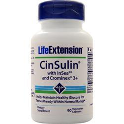 Life Extension CinSulin with InSea and Crominex 3+ 90 vcaps