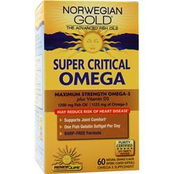 Renew Life Norwegian Gold Ultimate Fish Oils Super Critical Omega Natural Orange Flavor 60 sgels