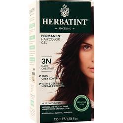Herbatint Permanent Herbal Haircolour Gel Dark Chestnut 135 mL