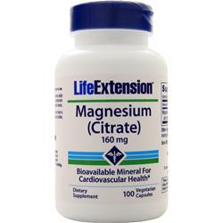Life Extension Magnesium Citrate (160mg) 100 vcaps