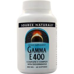 Source Naturals Gamma E 400 60 sgels