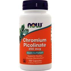 Now Chromium Picolinate (200mcg) 100 caps