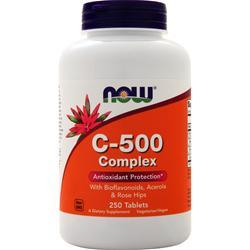 Now C-500 With Bioflavanoids, Acerola & Rose Hips 250 tabs