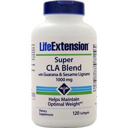 Life Extension Super CLA Blend (1000mg) with Guarana and Sesame Lignans 120 sgels