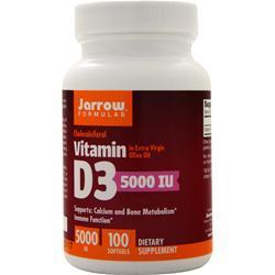Jarrow Vitamin D3 (5000IU) 100 sgels