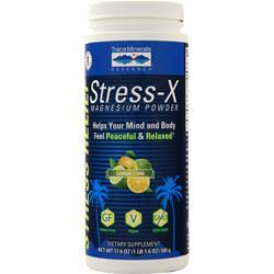 Trace Minerals Research Stress-X Magnesium Powder (350mg) Lemon Lime 17.6 oz
