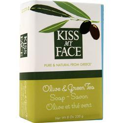 Kiss My Face Olive Oil Bar Soap Olive and Green Tea 8 oz