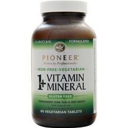 Pioneer 1+ Vitamin Mineral (Iron-Free) 60 tabs