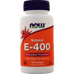 Now E-400 (Mixed Tocopherols) 100 sgels