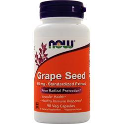 Now Grape Seed Standardized Extract (60mg) 90 vcaps