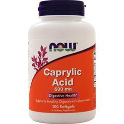 Now Caprylic Acid (600mg) 100 sgels