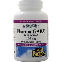 Natural Factors Pharma GABA Chewable 60 tabs