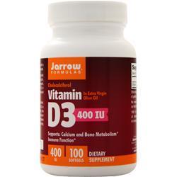 Jarrow Vitamin D3 (400IU) 100 sgels