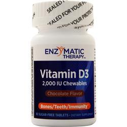 Enzymatic Therapy Vitamin D3 (2000IU) Chocolate 90 tabs