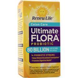 Renew Life Ultimate Flora - Critical Colon BifidoMax 80 Billion 30 vcaps