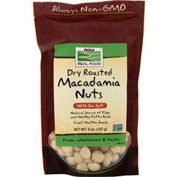 Now Macadamia Nuts - Dry Roasted & Salted 9 oz