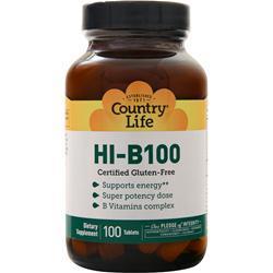 Country Life Super Potency HI-B-100 100 tabs