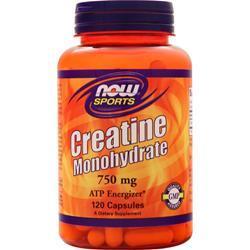 Now Creatine Monohydrate (750mg) 120 caps